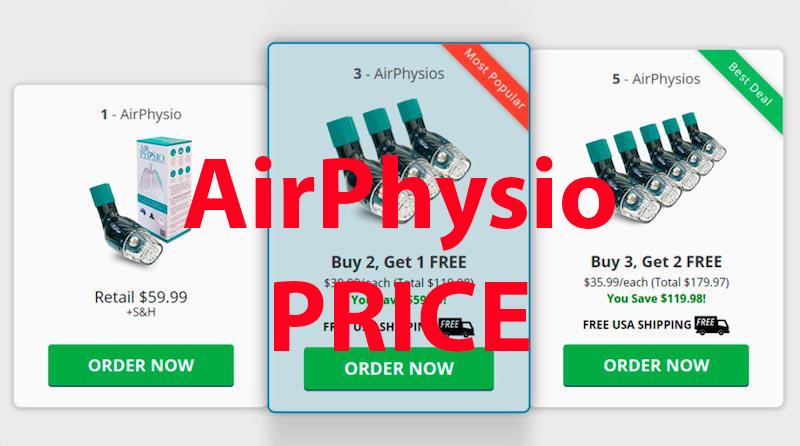what is the price of AirPhysio?